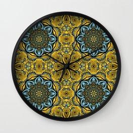 Gothic blue pattern Wall Clock