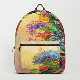A bouquet of beautiful wildflowers Backpack