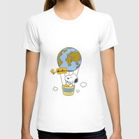 snoopy T-shirts featuring ADVENTUROUS SNOOPY by Yildiray Atas