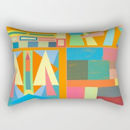 Town Square Rectangular Pillow