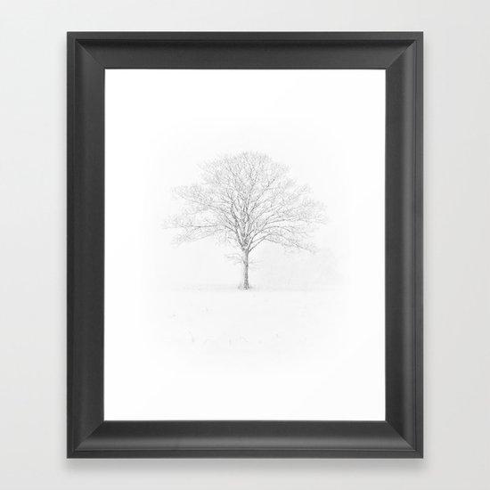 Tree in the Snow Framed Art Print