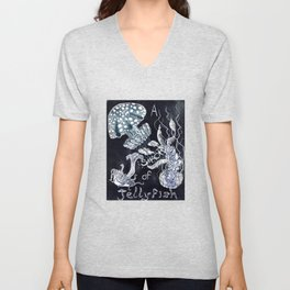 A Smack of Jellyfish Unisex V-Neck