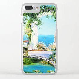 Cozy courtyard # 2 Clear iPhone Case