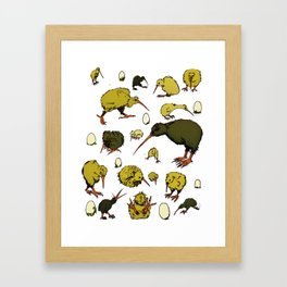 Kiwi Birds Framed Art Print