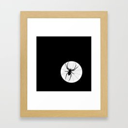 Captured in th Web Framed Art Print