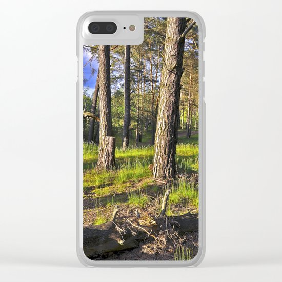 Dreaming Summer Forest Clear iPhone Case
