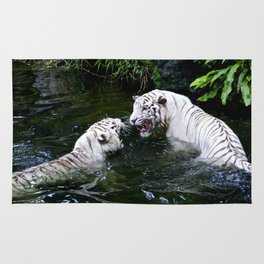 Tigers Fight Rug