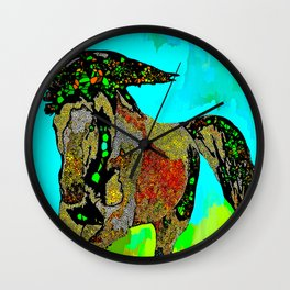 Horse Stained Glass Wall Clock