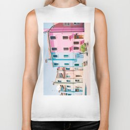 Colorful houses in Burano Biker Tank