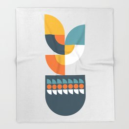 Geometric Plant 01 Throw Blanket