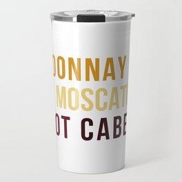 Wine Typography Spectrum Travel Mug