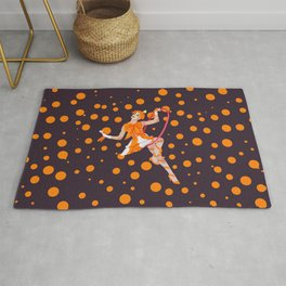orange oddly Rug