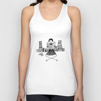 bookworm Tank Tops featuring Bookworm by kate gabrielle