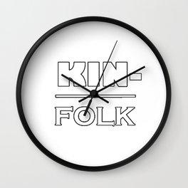 Kin Folk Wall Clock