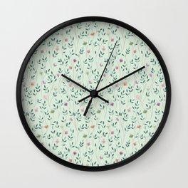 Poetic leaves Wall Clock
