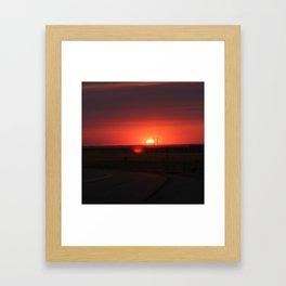 Sunset Highway Framed Art Print