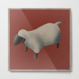 Gouache Sheep Metal Print