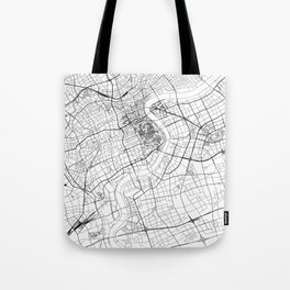 Shanghai White Map Tote Bag