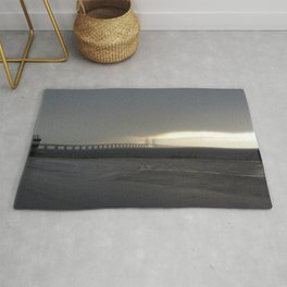 Oresund Bridge in a storm  Rug