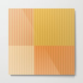 Color Block Line Abstract IV Metal Print
