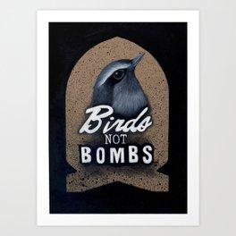 Birds not Bombs Art Print
