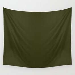 Dark olive textured. 2 Wall Tapestry