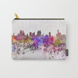 Panama City skyline in watercolor background Carry-All Pouch