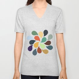 Colorful Water Drops Unisex V-Neck