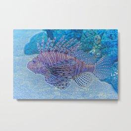 Abstract Lionfish Metal Print