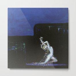 'Twilight, The Ritual Dance' Female Form Portrait painting by Bolesław Biegas Metal Print