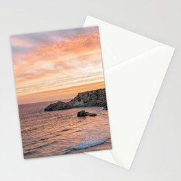 Sunset at Paradise Beach | Orange Sky | Travel Photography Stationery Cards