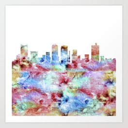 Fort Worth City Skyline Art Print