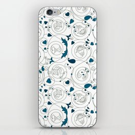 Byzantine floral ornament iPhone Skin