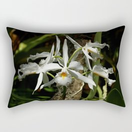 White Orchid Rectangular Pillow