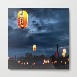 Obon lights Metal Print