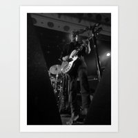 queens of the stone age Art Prints featuring josh homme // queens of the stone age by Hattie Trott