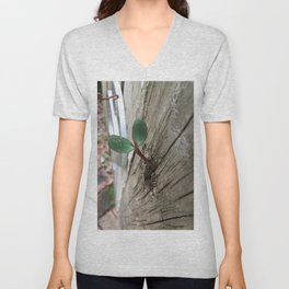 Plant sprout gate Unisex V-Neck