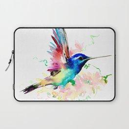 Hummingbird , Blue Turquoise Pink Laptop Sleeve