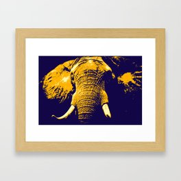 Elephant Pop Art Framed Art Print