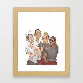 buzz cut boys Framed Art Print