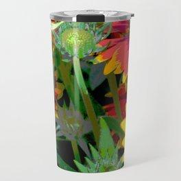 """Orange Flowers"" Travel Mug"