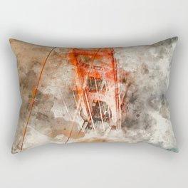 Golden Gate Bridge - Watercolor Rectangular Pillow