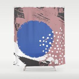 Blue Hydrangea Gypsophila Abstract Shower Curtain