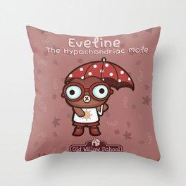 Eveline the Hypochondriac Mole Throw Pillow