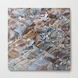 Natural Rock Pattern Metal Print