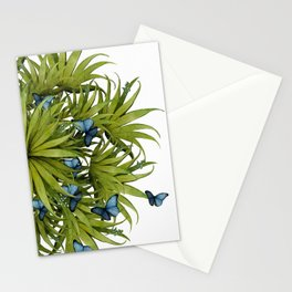 """El Bosco fantasy, tropical island blue butterflies 02"" Stationery Cards"