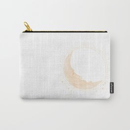 Moai Crescent Moon Carry-All Pouch