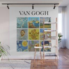 Van Gogh - Collage Wall Mural