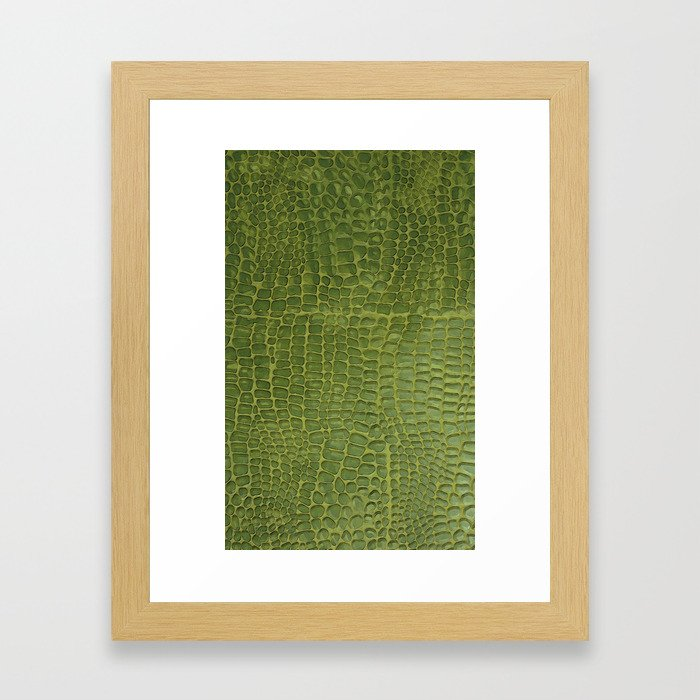 Alligator Skin Framed Art Print