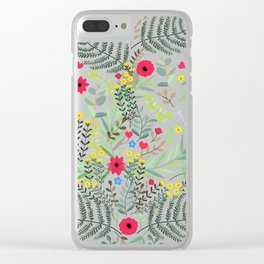 Nature Love heart Clear iPhone Case